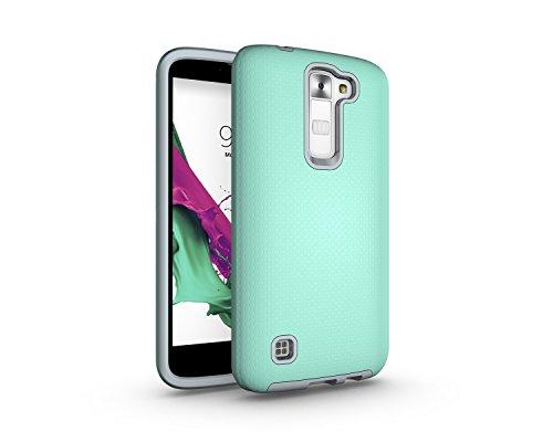 LG K7 caso, con textura de cuerpo completo de protección del teléfono móvil a prueba de golpes duro caso de la PC para LG K7 ( Color : Purple ) Green