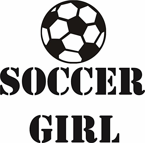 Soccer Girl Ball Player Sports Kids Boy Bedroom Size: 12 Inches X 12 Inches - 22 Colors - Can Glasses Hippie Buy Where I