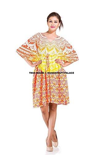 Indian Beach Dress Mandala Bikini Cover Up Caftan Maxi Go...
