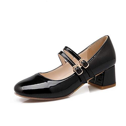 Noir Femme Compensées AdeeSu SDC05651 Sandales Wq7WRP