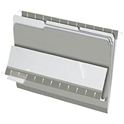Pendaflex Interior File Folders, 1/3 Cut, Top Tab, Legal, Gray, 100/Box (4350 1/3 GRA)