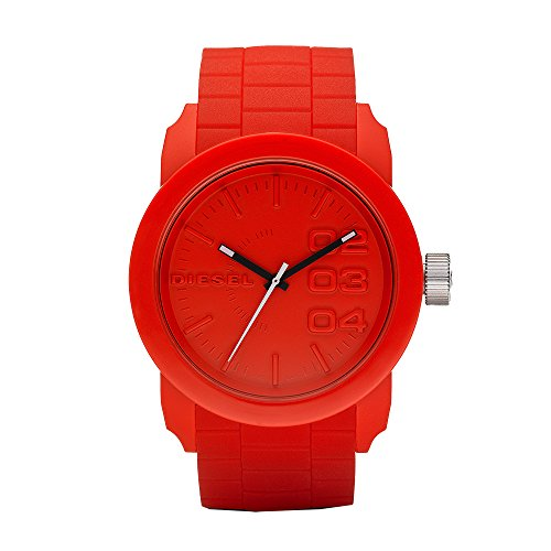 Diesel men's watch DZ1440 double down red silicone