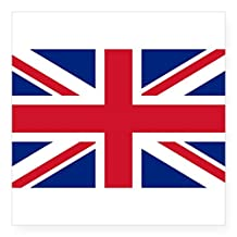 "CafePress - Sticker With British Flag - The Union Jack Sticker - Square Bumper Sticker Car Decal, 3""x3"" (Small) or 5""x5"" (Large)"