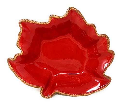 Temp-tations Harvest Maple Leaf Casserole Bakeware or Serving Bowl, Choose a Size (1 Quart)