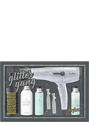 DRYBAR Glitter Gang set - Limited Edition Silver Glitter Buttercup Blow-Dryer and Glitter Spritzer Sparkle Spray.