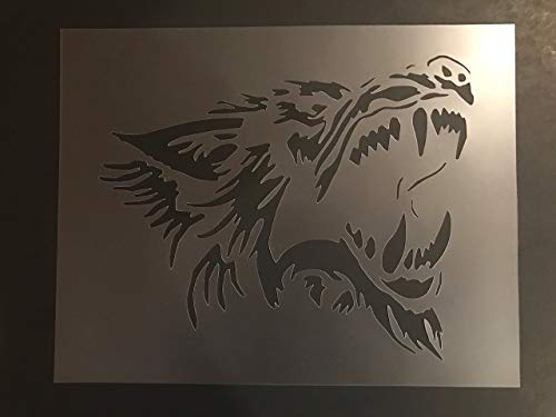 Wolf Stencil #2 Reusable 10 mil Thick 8in x 10.5in -