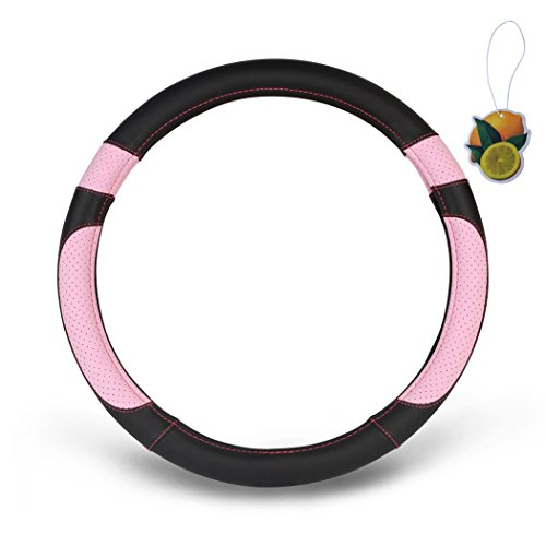 pink grip steering wheel cover - 8