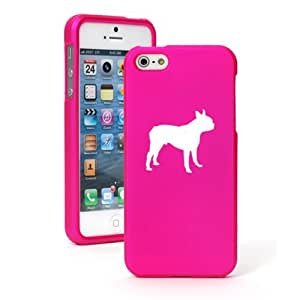 """Apple iPhone 6 (4.7"""") Snap On 2 Piece Rubber Hard Case Cover Boston Terrier (Hot Pink)"""