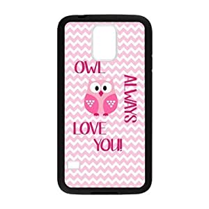Owl Always Love You Pink Chevron Personalized Custom Case For SamSung Galaxy S5