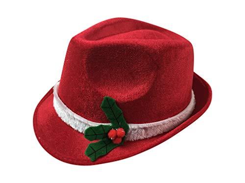 Red Christmas Fedora Hat -