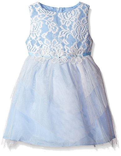 Rare Editions Little Girls' Lace Ballerina Social Dress, Blue, 6X Rare Editions Spring