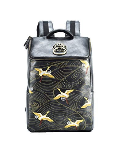 MM Cool Backpack School College Bookbag Design Daypack with Traditional Embroidery ()