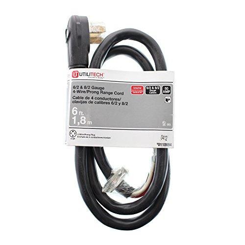 Utilitech 6-ft 6-Gauge Indoor Range Extension Cord - - Amazon.com
