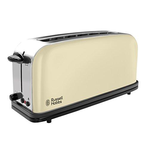 Russell Hobbs 21395-56 Colours Classic Cream Langschlitz-Toaster, 6 einstellbare Bräunungsstufen, extra breiter Toastschlitz