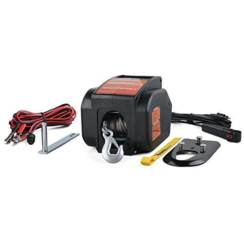 Keeper KTSL2000RM 12V DC Rapid Mount Portable Winch with Handheld Remote-6000 lbs. Load Capacity