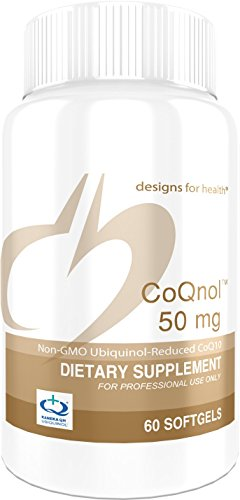 Cheap Designs for Health – CoQnol – 50mg Antioxidant Ubiquinol, Reduced + Non-GMO CoQ10 for ATP Energy Support, 60 Softgels