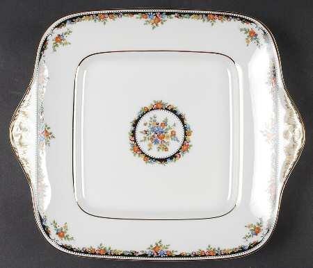 ウェッジウッド オズボーン 持ち手付きケーキ皿 [並行輸入品] B07D493CCK