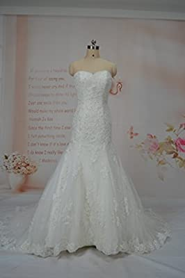 Upscale High End Custom Made Export Mermaid Sweet Heart Exquisite Beaded Lace Applique Soft Tulle Bridal Gown Made to Measure ...