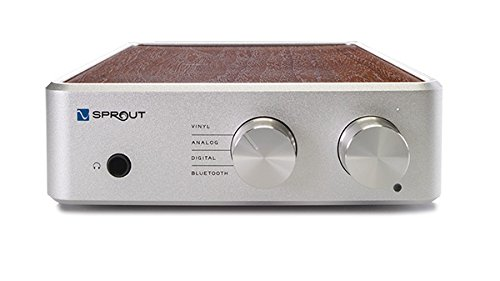 PS Audio Sprout100 Complete HiFi DAC Amp, High Resolution High Fidelity Audio for Digital, Analog, Vinyl, and Bluetooth (Real Walnut) by PS Audio
