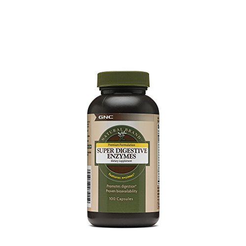 GNC Natural Brand Super Digestive Enzymes, 100 Capsules, Supports Protein, Carbohydrate and Fat Digestion