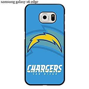 Samsung Galaxy S6 Edge Case Cover Protection Design NFL San Diego Chargers Football Sports Team Logo Ultra Slim Snap on Hard Plastic Phone Accessories for Men Collection Diamond