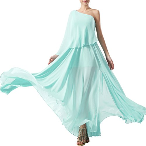 Rosa Ballkleider Langes Chiffon Abendkleid Elegantes Aiyana Burgund Ein Brautjungfernkleider Aermellos Bodenlang Schulter USRc4qzwB