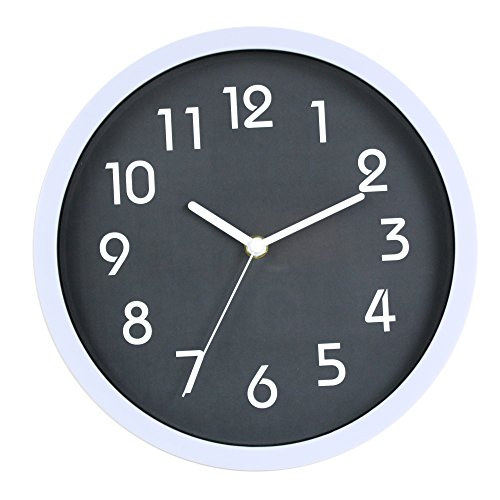 HITO Modern Colorful Silent Non-ticking Wall Clock- 10 Inches (Wall Clock Silent)