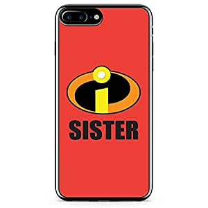 Loud Universe Sister Gift iPhone 8 Plus Case Incredibles iPhone 8 Plus Cover with Transparent Edges