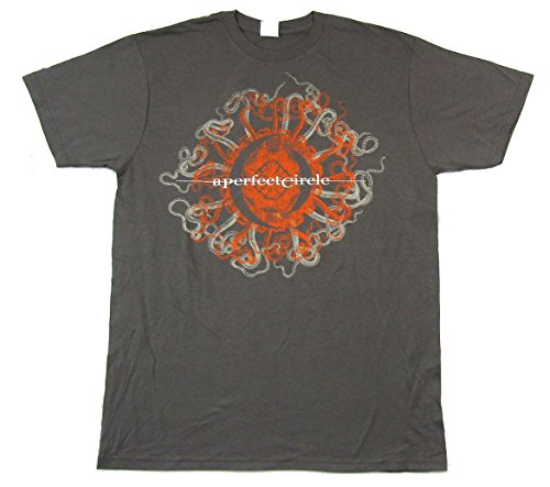 (A Perfect Circle Orange Octopuss 2011 Tour Grey T Shirt)