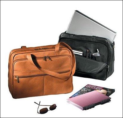 Leather Vaqueta Women's Shoulder Laptop Briefcase