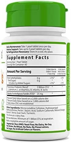 41hMSfTJCFL. AC - Hyperbiotics PRO-Kids - 60 Tiny Sugar Free Once Daily Time-Release Pearls For Kids Ages 3 And Up - Easy To Swallow And 15x More Survivability Than Capsules - Recommended With Vitamins
