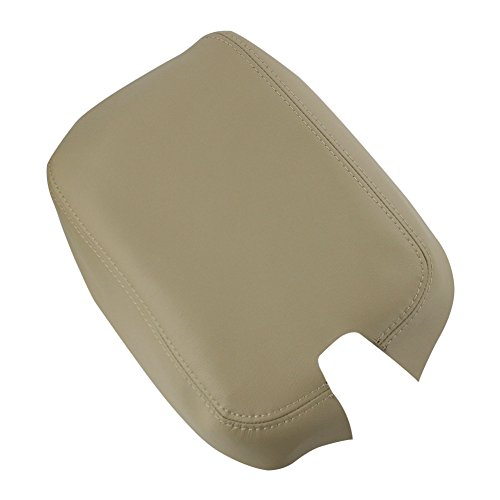 SunAutobuy Beige Synthetic Leather Armrest Cover Skin for 2008 to 2012 Honda Accord All