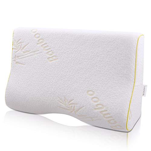 Memory Foam Pillow, Wonwo Contour Pillow, Bamboo Bed Pillow, Ergonomic...