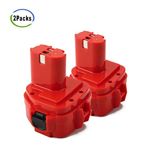 Battery Volt 12 1201 - Creabest New 2Pack 12V 3500mAh Replacement Battery Compatible with Makita 192598-2 1220 1200 1201 1222 1233 1234 1235 PA12 1235A 1235B 1235F 192696-2 192698-8 192681-5 192698-A 193138-9 Ni-MH Battery