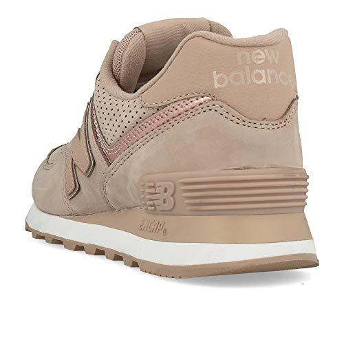 Wl574 Sneakers Donna Scarpe Lacci Classics Cipria Rosa Balance New Nbm HSqw5w8