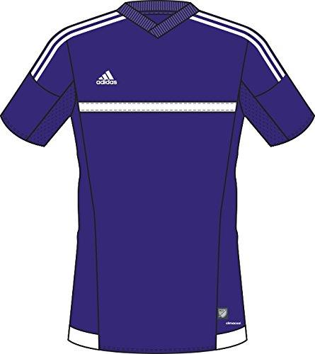 Adidas MLS 15 Match Womens Soccer Jersey L Purple-White