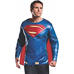 Rubie's Men's Batman v Superman: Dawn of Justice Superman Muscle Chest Top, Multi, X-Large