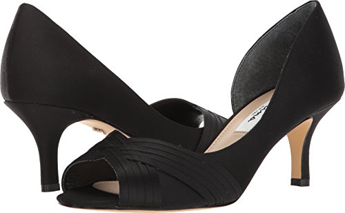 - NINA Women's Contesa Black Luster Satin 8.5 W US