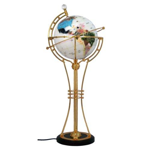 Magellan Illuminated 13 Inch Handcrafted Nova Gemstone Globe (White (Nova Globe)