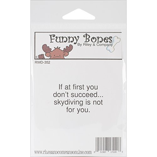 Riley & Company Funny Bones Cling Mounted Stamp Riley 1.75