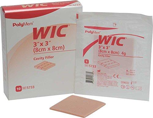 - PolyMem WIC Non-Adhesive Wound Dressing, Cavity Filler, Foam, 3