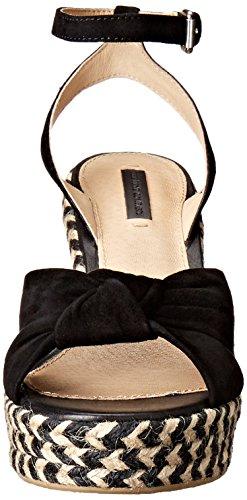 Frye Mujer Charlotte Twist Alpargata cuña sandalias Black-70113