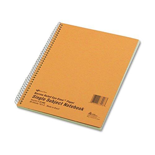 - National 33008 Subject Wirebound Notebook Narrow/Margin Rule 8 x 10 Green 80 Sheets