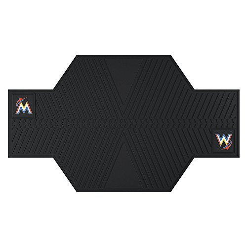 Fan Mats 15353 MLB Miami Marlins Motorcycle Mat