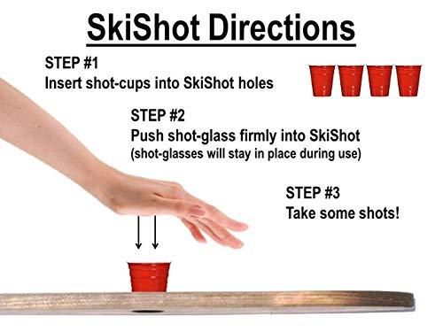 Rustic Wood Shot Board Ski by Apres Ski Shop (Image #5)