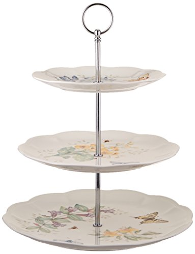 - Lenox Butterfly Meadow 3-Tiered Server