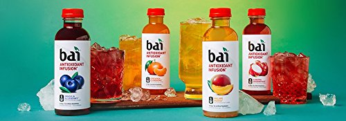 Bai Flavored Water, Rainforest Variety Pack, Antioxidant Infused Drinks, 18 Fluid Ounce Bottles, 12 count, 3 each of Brasilia Blueberry, Costa Rica Clementine, Malawi Mango, Sumatra Dragonfruit - incensecentral.us