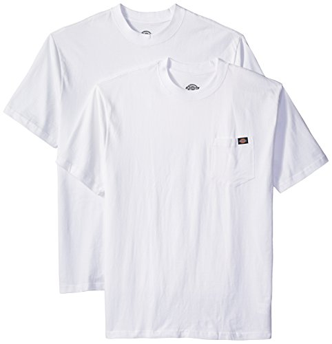Dickies Men's 2-Pack Short Sleeve Pocket T-Shirts, White, 2X Large (Pocket T-shirt Only)