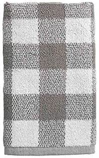 Bee /& Willow Home Gingham Dobby Tip Towel in Grey