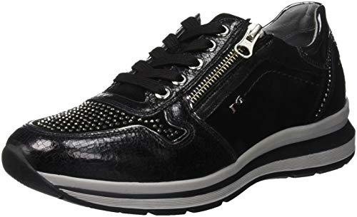 Crack Giardini Nero Femme Enfiler Velour Baskets qxw5nHYS4